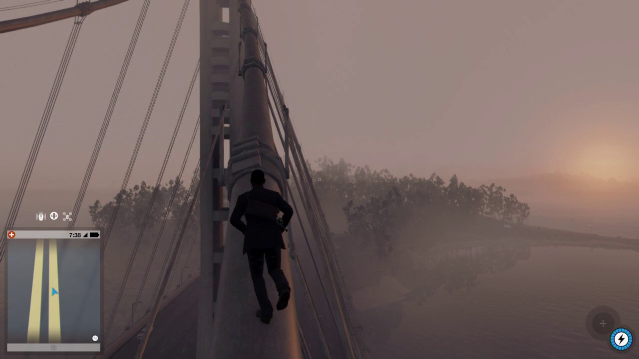 watch dogs 2 parkour run jumping off the top of bay bridge