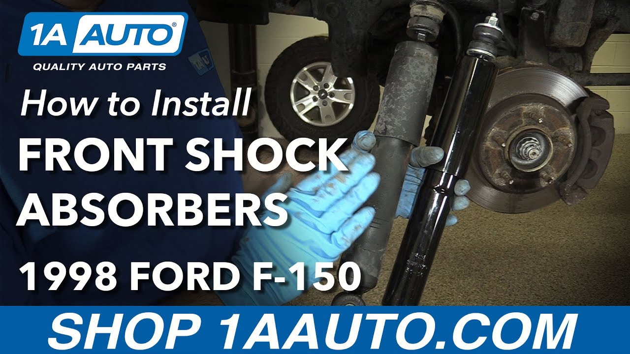 How to install replace front shock absorbers 1997 03 ford f150 4 wheel drive 1a auto parts