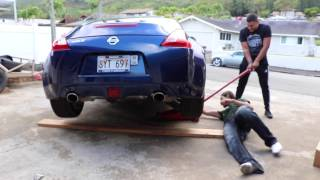 Installing an exhaust on a 370z