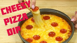 How to Make Cheese Dip: Easy Cheese & Pepperoni Pizza Dip  #FoodPorn