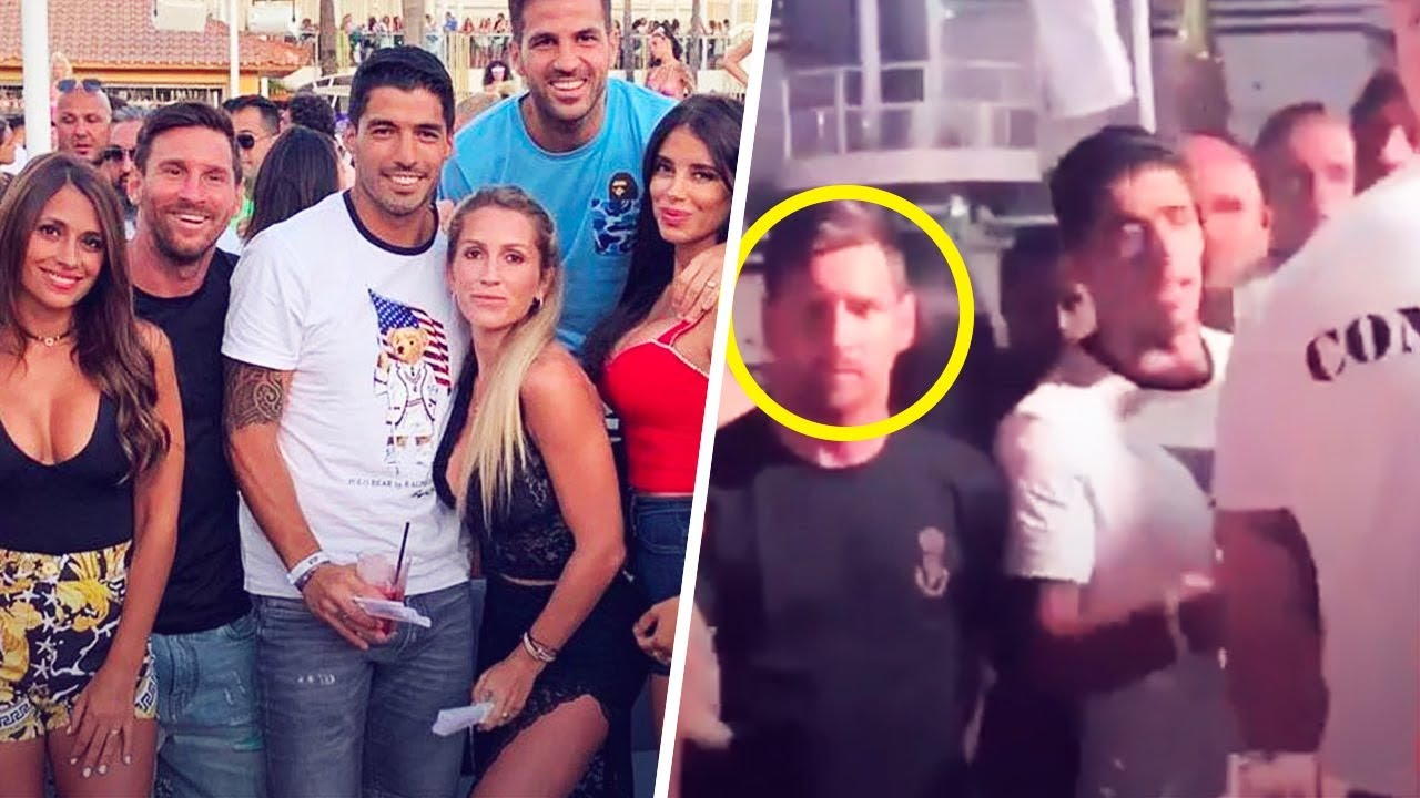 A receipt from ibiza night club 'cabaret' has been attributed to barcelona star lionel messi after photos of he and a bartender at the club. Messi Involved In A Fight While Partying In Ibiza With Suarez And Fabregas Oh My Goal Youtube
