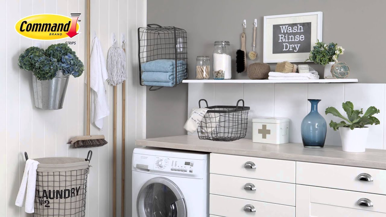 Organise Your Utility Room With Command Hooks Youtube