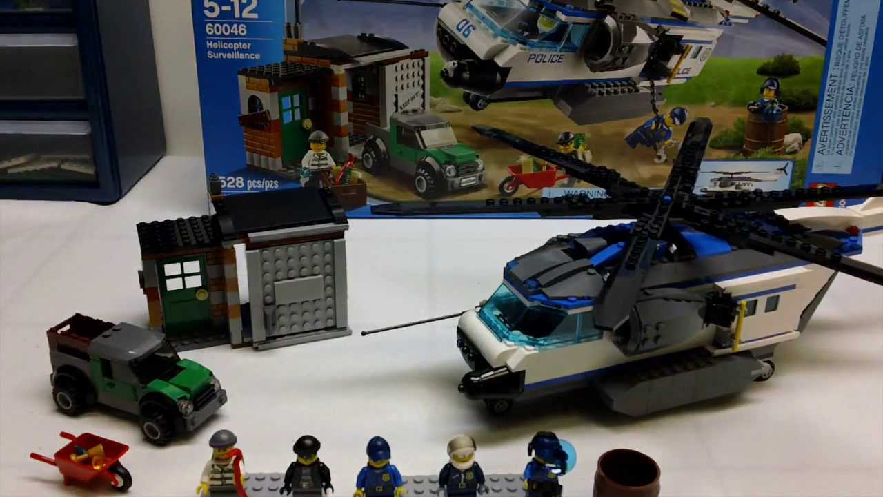 LEGO City 60046 Helicopter Surveillance Review - YouTube