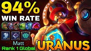 94% Win Rate Build Uranus Pinball Machine  Top 1 Global Uranus by Matt  MLBB