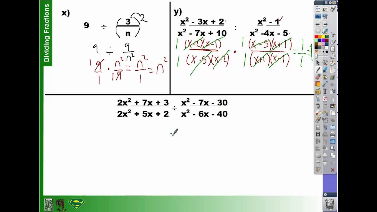 63 How To Divide Fractions With Polynomials Part 3 (63)