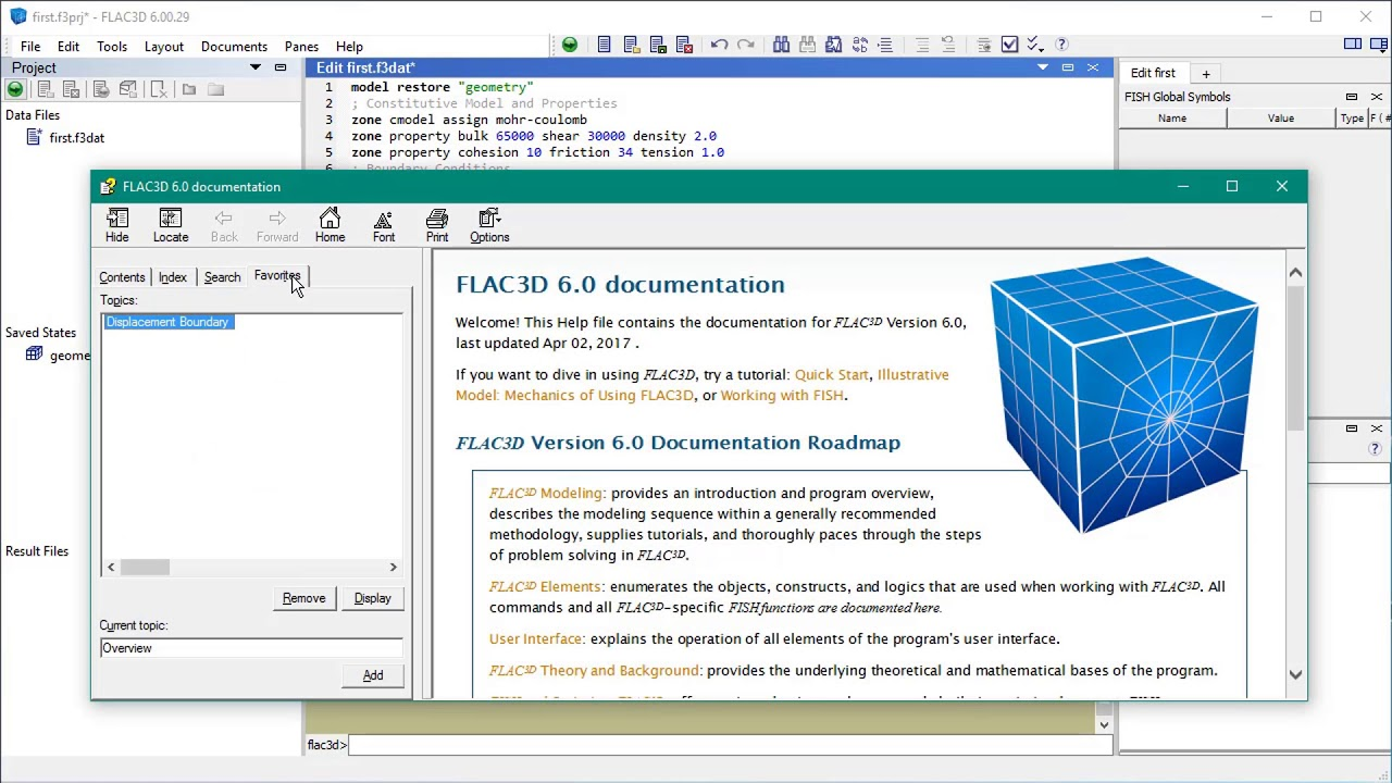 flac3d 600 quick start tutorial youtube rh youtube com FLAC Software FLAC3D Itasca