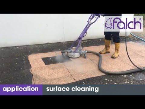 außenflächen reinigen / flächenreinigung / cleaning outdoor - www.falch.com