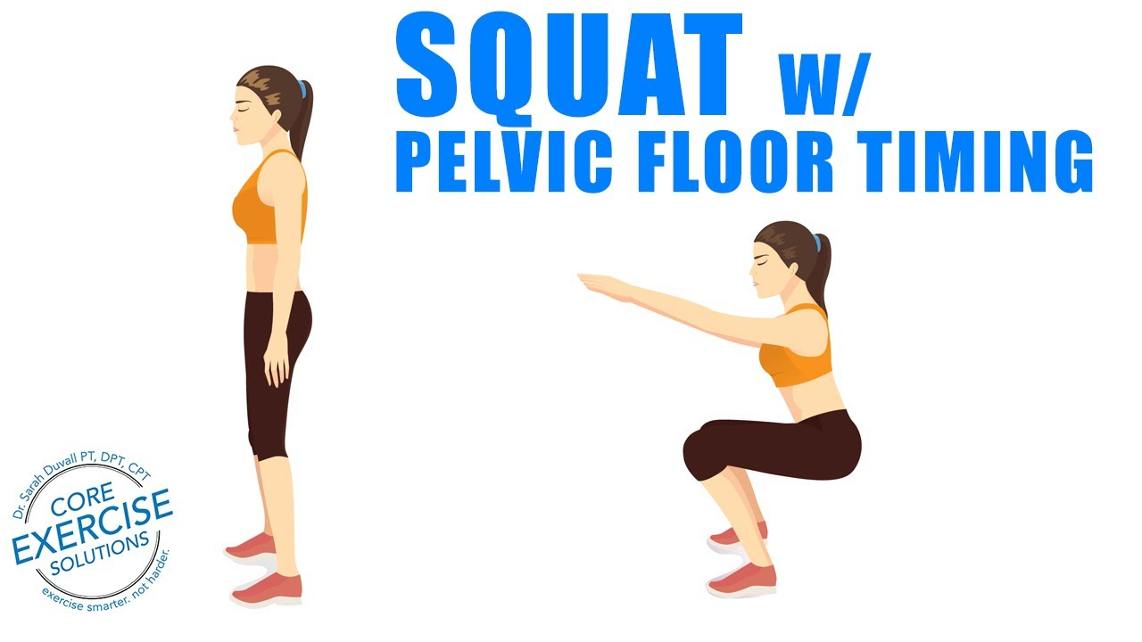 Squat With Pelvic Floor Timing