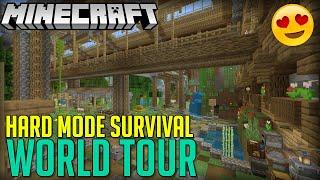 Minecraft HUGE Survival World Tour!|PS4|HARD MODE|