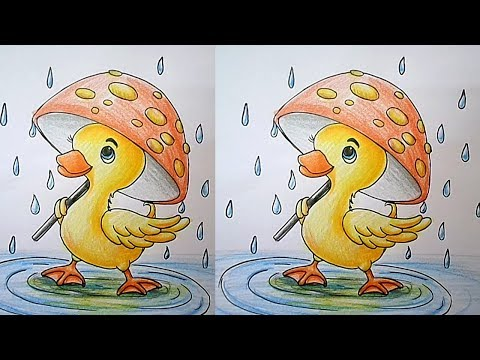 How To Draw A Duck Easy Step By Step For Kids - Drawing Tutorial For Kids | Learn Drawing For Kids