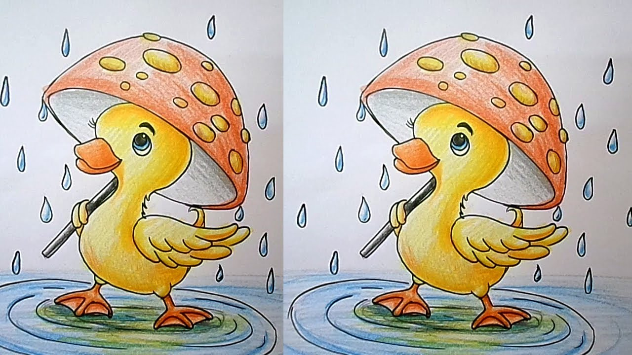 How To Draw A Duck Easy Step By Step For Kids Drawing Tutorial For