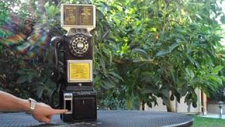 Automatic Electric Three Slot Payphone with a Fully Functioning Coin Mechanism