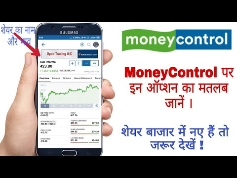How to use money control app - How to read stock quote on money control - Hindi