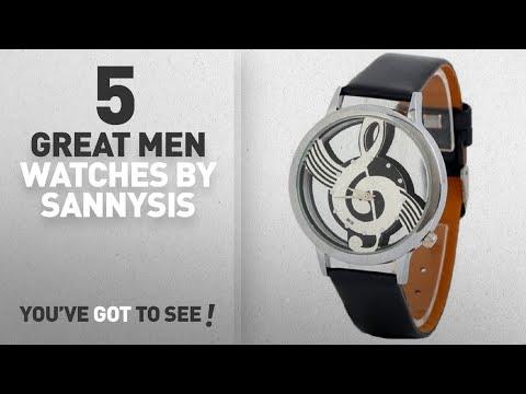 Top 10 Sannysis Men Watches [ Winter 2018 ]: Sannysis Watches Note Music Notation Leather Quartz