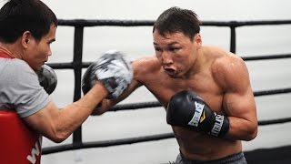 Ruslan Provodnikov training like a beast for fight Lucas Matthysse [Pad Work + Speed Bag]