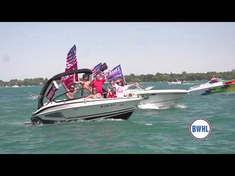 TrumpTilla Boat Parade in St. Clair Michigan