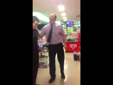 A typical manager of an Irish supermarket