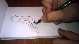 Как нарисовать птичку(Если понравился ставьте класс., 2015-01-10T17:14:28.000Z)