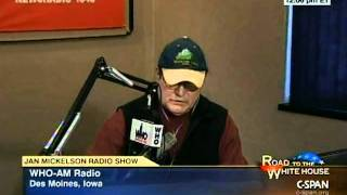 12-29-11 Ron Paul on WHO with Jan Mickelson Part 5