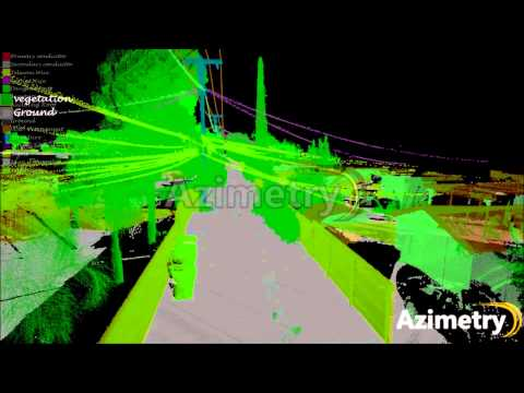 Telecom & distribution line projects from LiDAR Survey