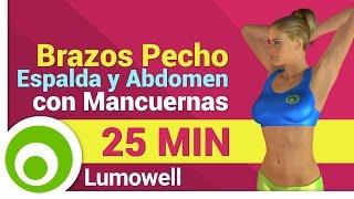 ejercicios para brazos pecho espalda y abdomen con mancuernas en casa