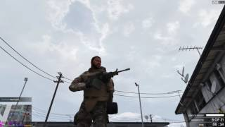 GTA V - PMC vs Vagos clash (M249 SAW showcase) 1440p PC Gameplay