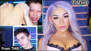 How To | Full Body with boobs! | Drag Queen Boy To Girl Transformation 2 kier