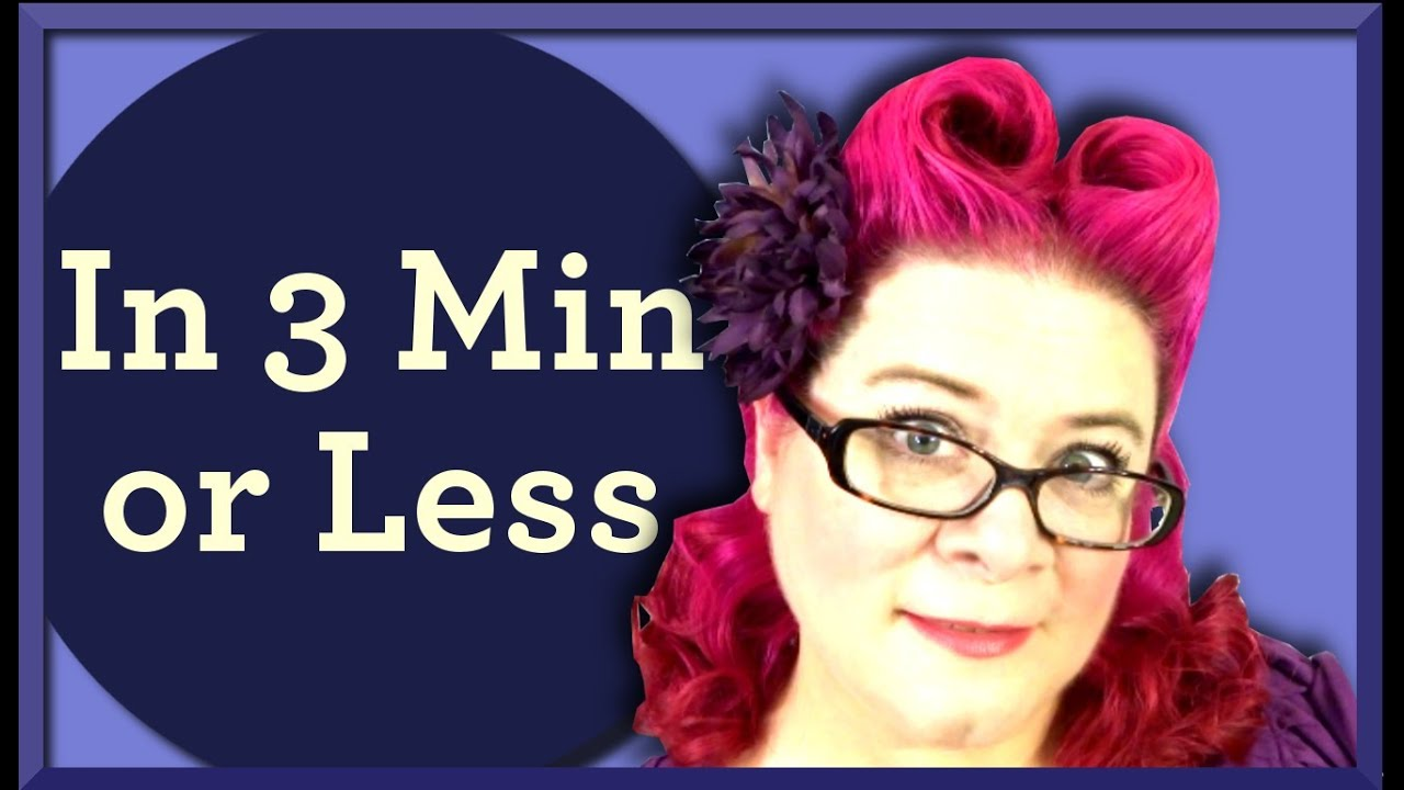 heart shaped victory rolls pinup hairstyle in 3 minutes or
