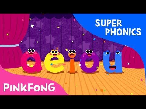 The Vowel Family  Super Phonics  Pinkfong Songs for Children