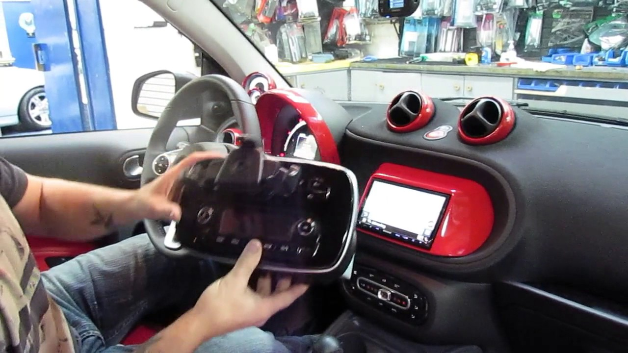 smart car kenwood double din install youtube