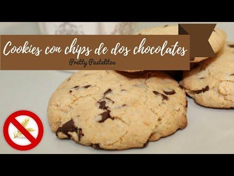 Cookies con chips de dos chocolates (sin gluten y bajo contenido en lactosa)