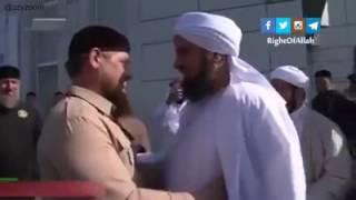 شاهد كيف يخدع الدجال القبوري الجفري رئيس الشيشان و يقول له أن رسول الله سيفرح و أنه يعلي السنة  !!