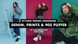 Styling Trends Lookbook ft. ASOS | Prints, Denim & 90s Puffer | My Style Is Never Done