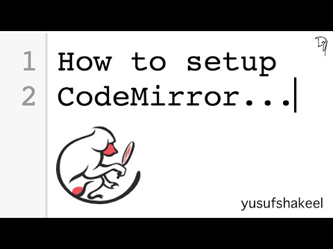 How To Setup CodeMirror - Step By Step Guide | CodeMirror #01