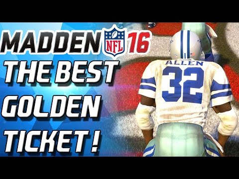 MARCUS ALLEN! THE BEST GOLDEN TICKET IN MUT! - Madden 16 Ultimate Team -
