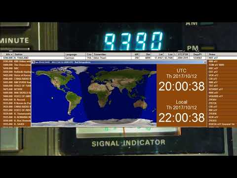 HSK9 Radio Thailand World Service, 2017 October12 20:00  UTC 9390 kHz