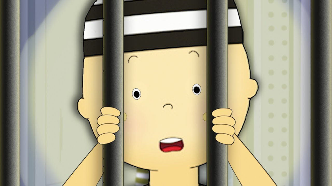 Caillou's Prison Break ★ Funny Animated Caillou   Cartoons for kids   Caillou