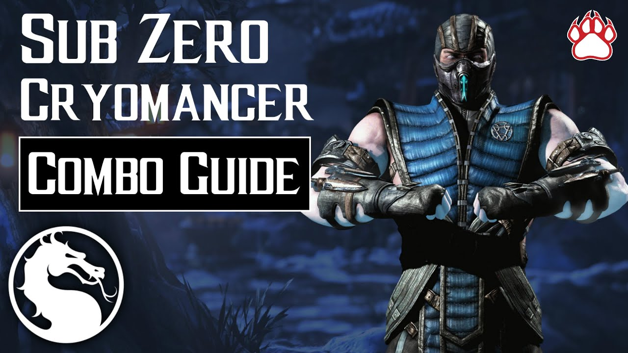 Mortal Kombat X Sub Zero Cryomancer Combo Guide 12 44 Youtube