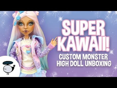 KAWAII CUSTOM MONSTER HIGH DOLL UNBOXING FROM BUBBLE FUSION!