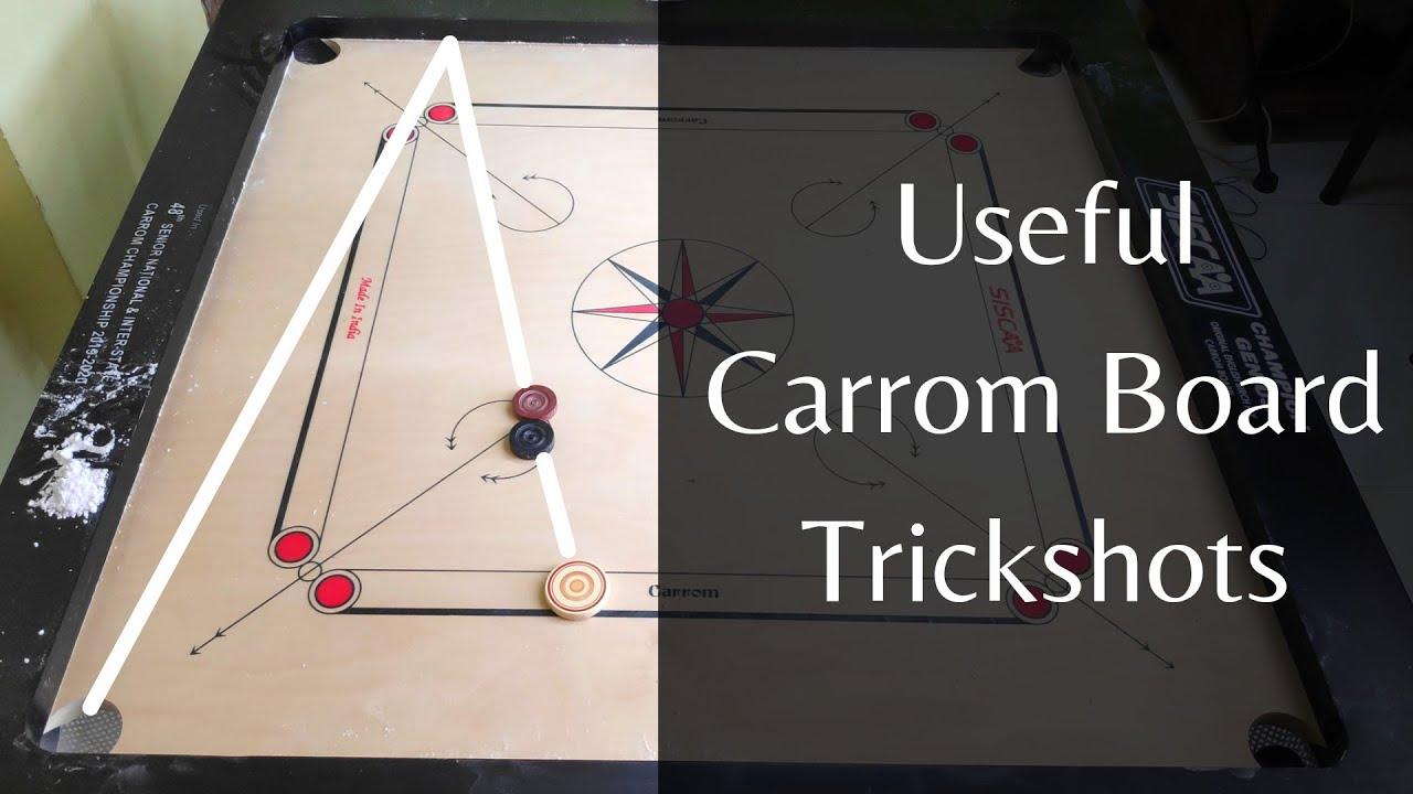 Useful Carrom Board Trick Shot   Strike & Pocket  
