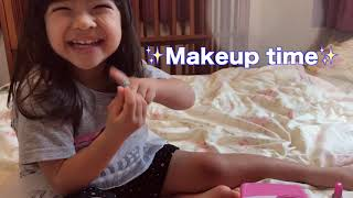 Fashion makeup tutorial from Maia our three year old✨ まいあのメイ...