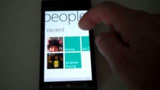 Facebook connection on Nokia Lumia 900