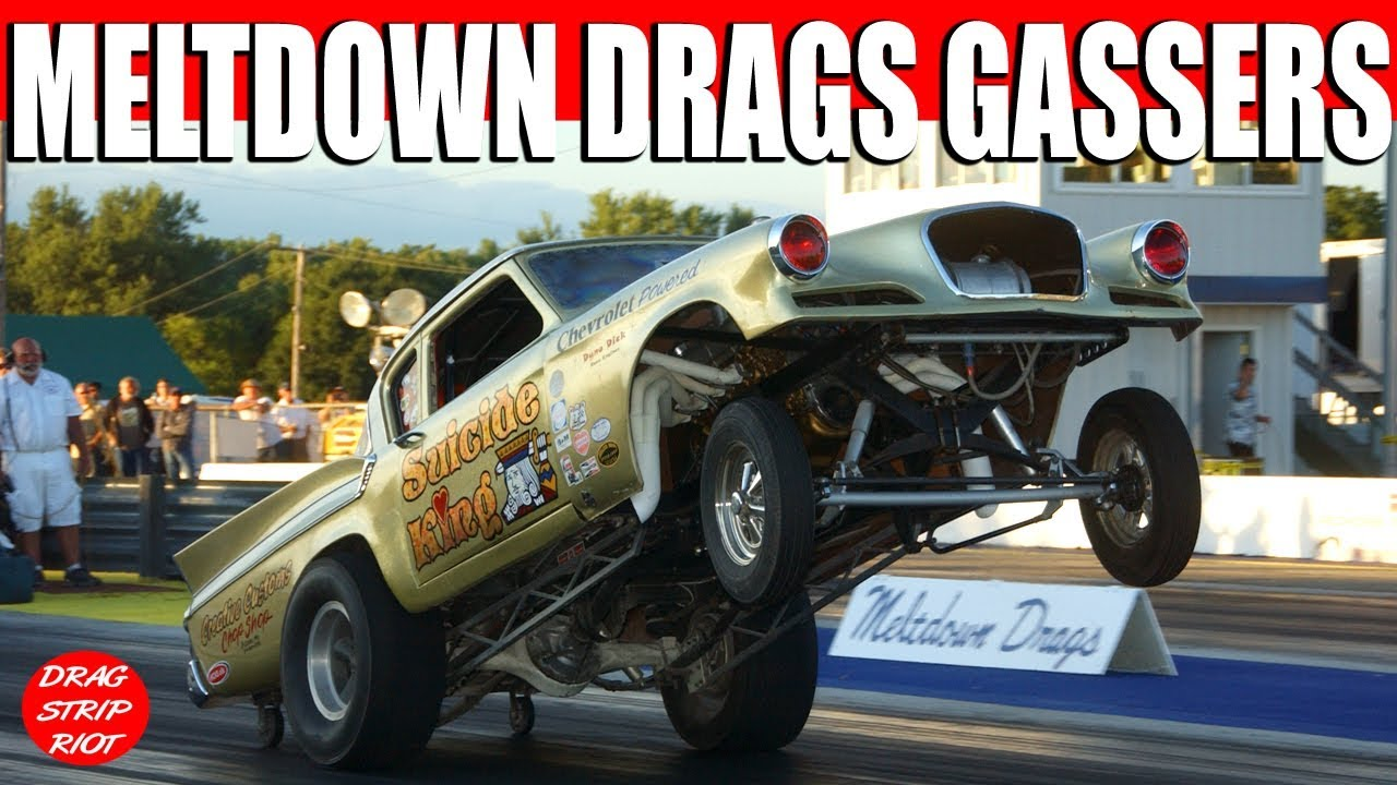 2016 Meltdown Drags Old School Gasser Nostalgia 1/4 Mile