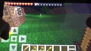 Minecraft Pocket Edition- Survival Ep. 2 - Dancing Spiders?
