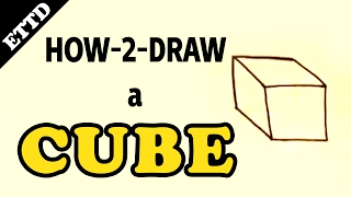 How to Draw a Cube - Easy Things to Draw