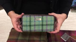 Gambar cover Harris Tweed 'Staffa' Check Long Zip Wool Purse
