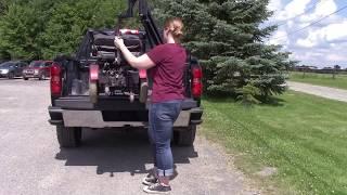 Multi-Lift PIR Scooter/Wheelchair Lift Loading onto Chevrolet Silverado 2014-Present