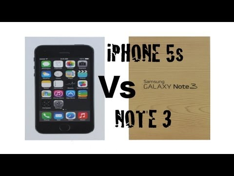 Apple iPhone 5s Vs Samsung Galaxy Note 3 (2013 Smart Phone Comparison)