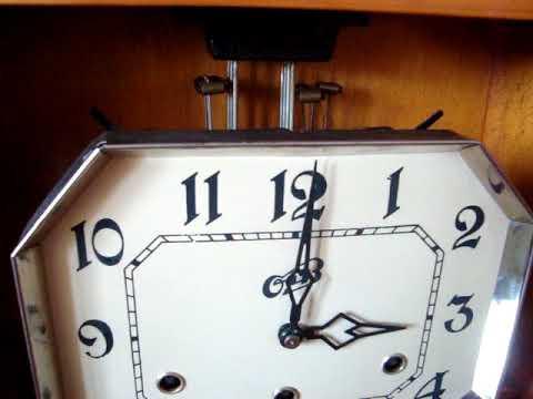настенные четвертные часы Очз с двумя мелодиями 1962г