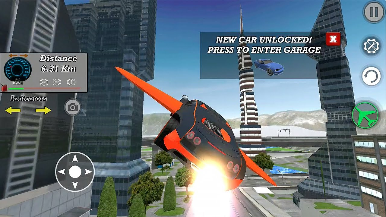 Real Flying Car Simulator Driver Android Gameplay Hd Bugatti Car